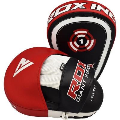 Оригинальные Лапы RDX T1 Boxing Focus Pads - Black/Red
