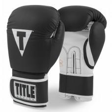 Оригинальные Боксерские Перчатки TITLE Pro Style Leather Training Gloves 3.0 - Black/White