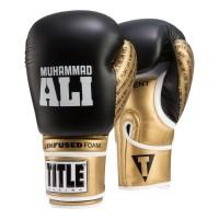 Оригинальные Боксерские Перчатки Title Ali Infused Foam Training Gloves - Black/Gold