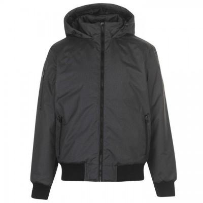 Оригинальная Куртка Everlast Hooded Bomber Jacket Mens - Grey