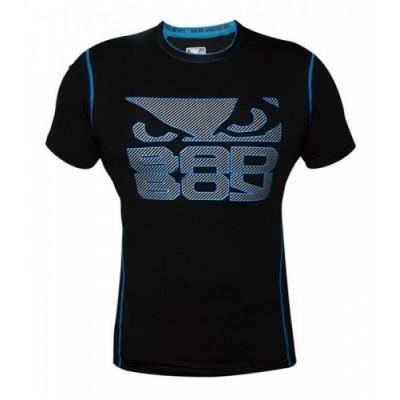 Рашгард Bad Boy Carbon S/S - Black/Neon/Blue