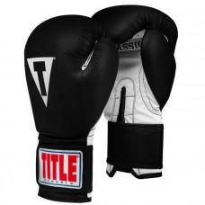Оригинальные Боксерские Перчатки TITLE Classic Retaliate Boxing Gloves - Black/White