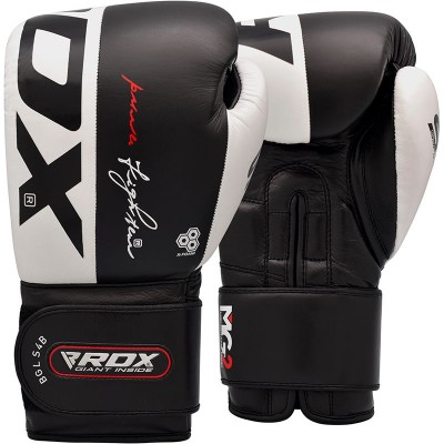 Оригинальные Боксерские Перчатки RDX S4 Leather Sparring Boxing Gloves - Black/White
