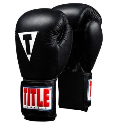 Оригинальные Боксерские Перчатки TITLE Classic Leather Elastic Training Gloves 2.0 - Black