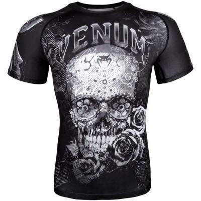Оригинальный Рашгард Venum Santa Muerte 3.0 Rashguards S/S - Black/White