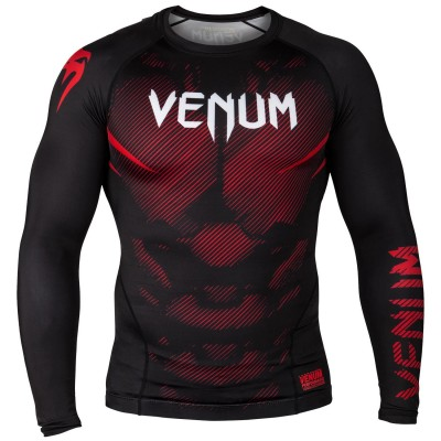 Оригинальный Рашгард Venum NoGi 2.0 Rashguard Long Sleeves - Black/Red