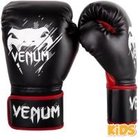 Детские боксерские перчатки  Venum Contender - Black/Red