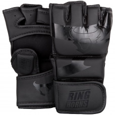 Перчатки Ringhorns Charger MMA Gloves - Black/Black