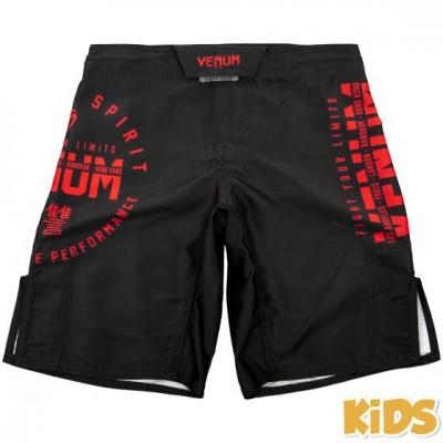 Оригинальные Детские Шорты Venum Signature Kids Fightshorts - Black/Red
