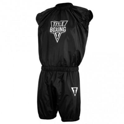 Оригинальный Костюм-Сауна TITLE Boxing Exceed Pro Set Nylon Sauna Suit - Black/White