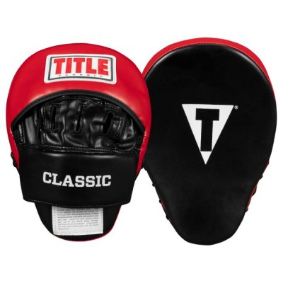 Оригинальные Лапы TITLE Classic Charge Punch Mitts - Black/Red