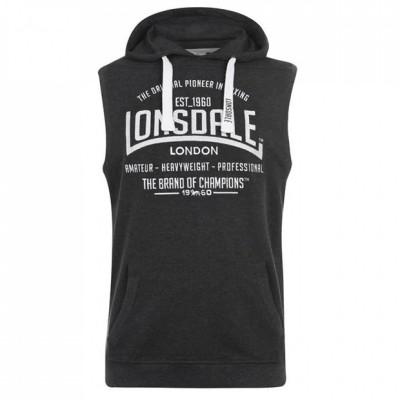 Оригинальная Безрукавка Lonsdale Boxing Sleeveless Hoodie Mens - Grey