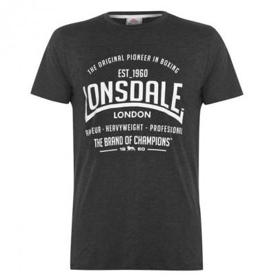 Оригинальная Футболка Lonsdale Boxing T Shirt Mens - Grey